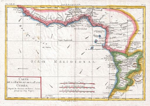 1780 Raynal and Bonne Map of Guinea - Geographicus - Guinee-bonne-1780