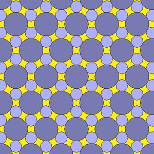 Octadecagon - Image: 18 gon 9 gon concave octagonal gap tiling 2