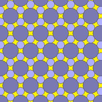 Octadecagon - Image: 18 gon 9 gon concave octagonal gap tiling 2