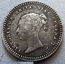 1839 three halfpence coin - obverse.jpg