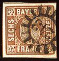 1850issue 6kr Bayern 243 Nürnberg SEM 4II1.jpg