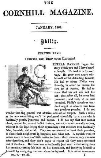 The Adventures of Philip - Image: 1862 Corhill Magazine January p 1