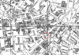 The Boston Journal - Image: 1881 Journal map Boston by Thomas Marsh BPL 12256 detail