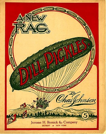 English: Dill Pickles Rag, 1906 Français : Dil...