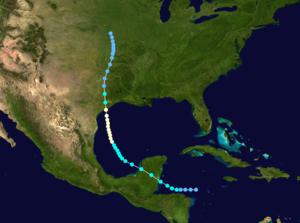 1921 Atlantic hurricane season - Image: 1921 Atlantic hurricane 1 track