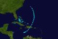 1932 Atlantic tropical storm 1 track.png