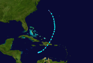 1932 Atlantic hurricane season - Image: 1932 Atlantic tropical storm 1 track