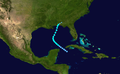 1934 Atlantic tropical storm 11 track.png