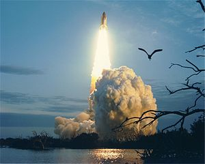 STS-32 - The launch of STS-32 from Kennedy Space Center's pad 39A.