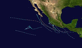 Pacific hurricane - Image: 1996 Pacific hurricane season summary