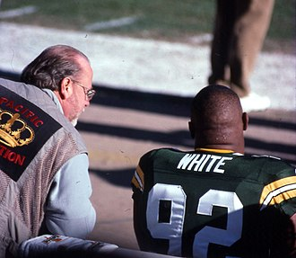 Reggie White - Reggie White at Lambeau Field in 1998.