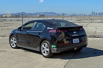 Plug-in electric vehicles in the United States - Chevrolet Volt with California's HOV lane access green sticker