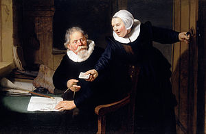 The Shipbuilder and his Wife - The Shipbuilder and his Wife, painting, 1633