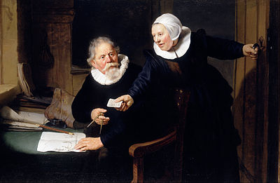 Rembrandt, The Shipbuilder and his Wife, 1633 (Jan Rijcksen (1560/2–1637) and his wife, Griet Jans)