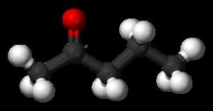 2-Pentanone - Image: 2 Pentanone 3D balls