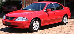 2002 Ford Falcon (AU III) SR sedan (2006-11-17).jpg