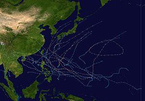 2003 Pacific typhoon season - Image: 2003 Pacific typhoon season summary