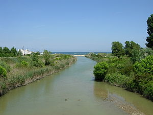 Conca (river) - The river at Misano Adriatico