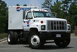 2008-08-04 GMC 7500 Pepsi truck parked at CVS.jpg