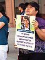 "2009 New York City Protesters Demand China Follows Due Process for Political Prisoner Filmmaker of ""Leaving Fear Behind"" Dhondup Wangchen 紐約抗議群眾要求中國審判西藏-圖博製片人當知項欠時遵守正當法定程序.jpg"