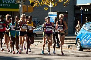 2010 New York City Marathon - Action from the women's elite race