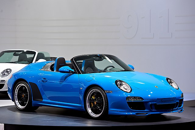 File 2010 Blue Porsche 911 Speedster 997 Mondial Paris