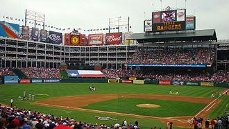 2010 Texas Rangers season - The Rangers Ballpark in Arlington opening day 4/5/2010