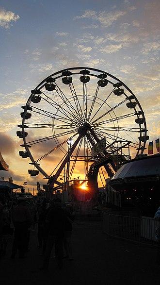 Missouri State Fair - 2011 Missouri State Fair - Ferris Wheel at Sunset