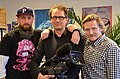2014-02-23 TV-Aufnahme NRD über Wikipedia mit Thomas Schwark, Sid Auffarth und Bernd Schwabe, (35) Rene Zander, Micha Bojanowski, Oliver Laffin.JPG