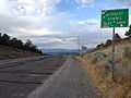 2014-07-18 18 53 34 View east along U.S. Route 6 about 130 miles east of the Esmeralda County Line at Currant Summit, Nevada.JPG