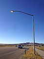 2014-10-05 16 15 32 Street light illuminated during the day along Nevada State Route 227 (Lamoille Highway) in Spring Creek, Nevada.JPG