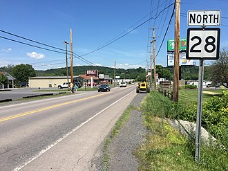 West Virginia Route 28 - View north along WV 28 in Fort Ashby