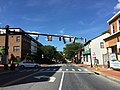2016-08-17 10 25 05 View west along Maryland State Route 450 (West Street) at Madison Place and Southgate Avenue in Annapolis, Anne Arundel County, Maryland.jpg