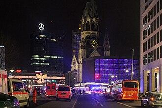 2016 Berlin truck attack - Breitscheidplatz after the attack