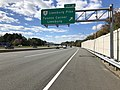 2018-10-24 12 49 24 View west along Virginia State Route 267 (Dulles Toll Road) at Exit 16 (Virginia State Route 7-Leesburg Pike, Tysons Corner, Leesburg) in McLean, Fairfax County, Virginia.jpg