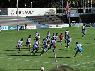 Samoa A national rugby union team - Samoa A playing Uruguay XV at the 2018 Americas Pacific Challenge in Montevideo.