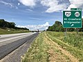 2019-06-06 15 58 35 View north along Interstate 81 at Exit 240 (Virginia State Route 257, Virginia State Route 682, Mount Crawford, Bridgewater) in North River, Rockingham County, Virginia.jpg