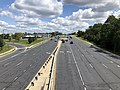 2019-08-25 12 31 11 View east along U.S. Route 40 (Baltimore National Pike) from the overpass for Interstate 695 (Baltimore Beltway) on the edge of Woodlawn and Catonsville in Baltimore County, Maryland.jpg