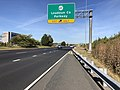 2019-09-20 10 00 50 View west along Virginia State Route 7 (Harry Byrd Highway) at the exit for Virginia State Route 607 (Loudoun County Parkway) on the edge of University Center and Ashburn in Loudoun County, Virginia.jpg