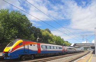 British Rail Class 222 - Five car length Class 222 No. 222016 at Bedford