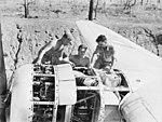 24 Squadron RAAF Liberator engine maintenance Fenton NT 1944 AWM NWA0620.jpg