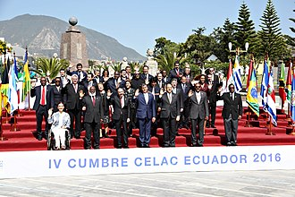 Community of Latin American and Caribbean States - Official 2016 CELAC Summit portrait in Quito, Ecuador