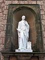272 Monestir de Montserrat, mirador de la plaça de Santa Maria, estàtua de Sant Enric d'Ossó.JPG