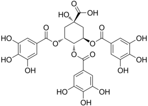 3,4,5-Tri-O-galloylquinic acid - Image: 3,4,5 Tri O galloylquinic acid