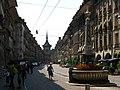 4572 - Bern - Brunnen und Zytglogge am Kramgasse.JPG