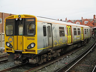 Merseyrail - Wirral Line 507 unit at New Brighton.