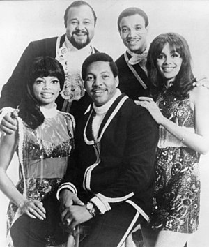 The 5th Dimension - The 5th Dimension in 1969. Back row: Townson and McLemore. Front row: LaRue, Davis, and McCoo.
