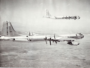 6th Air Mobility Wing - 6th Bombardment Wing Convair B-36 Peacemakers, AF Ser. No. 49-2683 and AF Ser. No. 49-2680, c. 1955