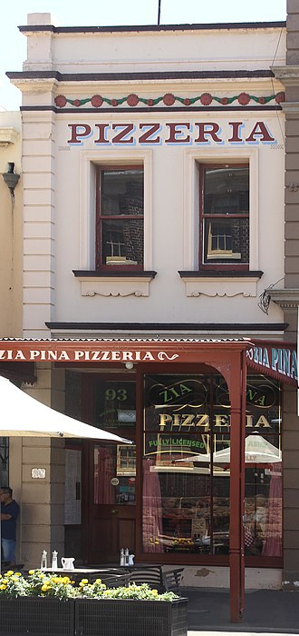 93 George Street, The Rocks - The Zia Pina Pizzeria shop, pictured in 2019.