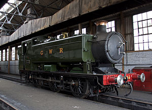 GWR 9400 Class - 9466 is one of two preserved members of the 210-strong class. Its Great Western Railway livery is inauthentic as it was one of those built for British Railways after nationalisation.